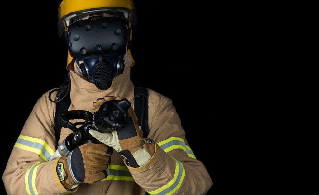 VR training - firefighter practice