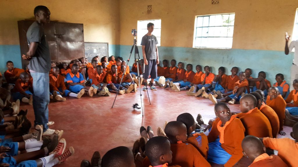 Another snapshot of filming in Kenya for a VSO VR film