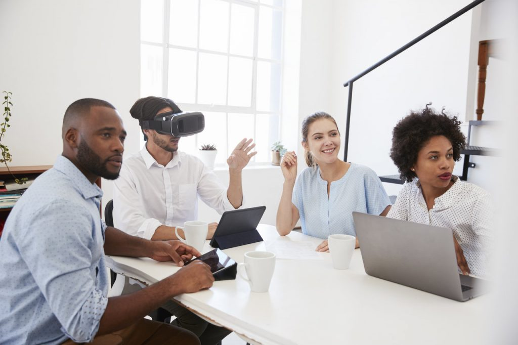 A group during a VR session, maybe even during a VR recruitment