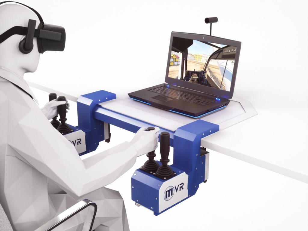 A look to the future - an image showing ITI's VR training simulator of how it might look like in the future