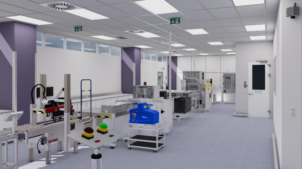 VR representation of pharma production line