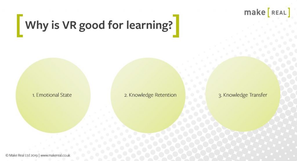 An image exploring why VR is good for education