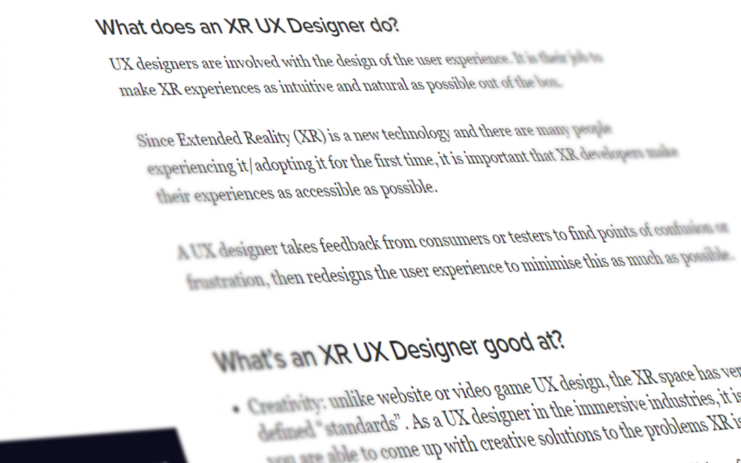 AIXR Partners With The Creative Careers Programme To Launch XR Job Profiles