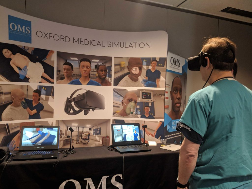 a clinician looking OMS virtual reality medical training solution