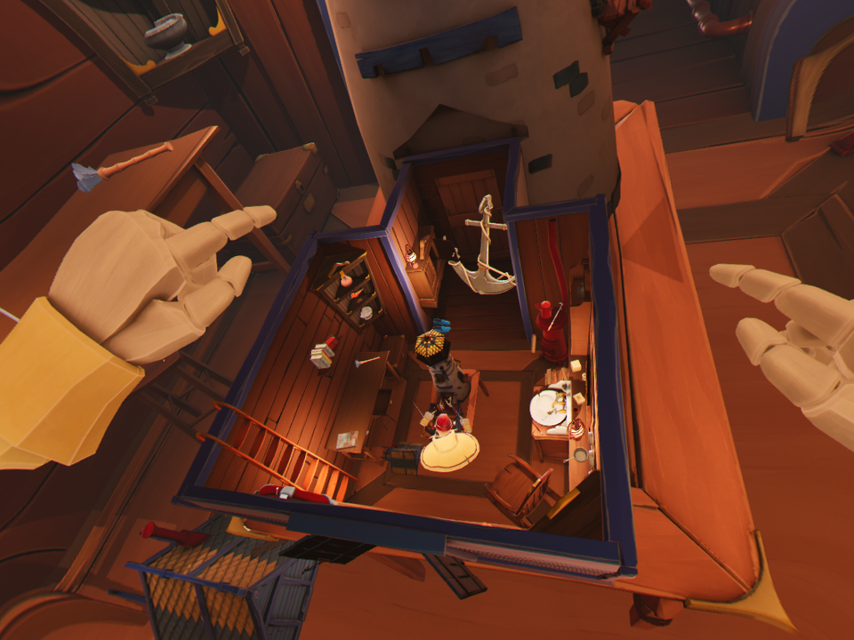 A snapshot of the VR game, about which the article is about