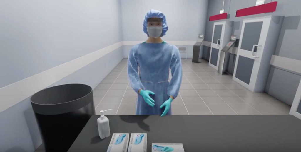 Exonicus PPE Training simulation snapshot