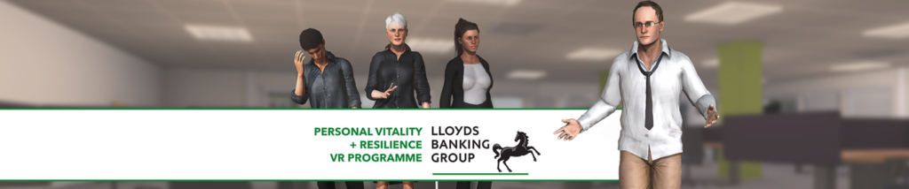A banner for Make Real and Lloyds Bank VR soft skills training programme