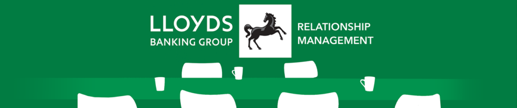 A banner for Lloyds and Make Real VR relationship management programme