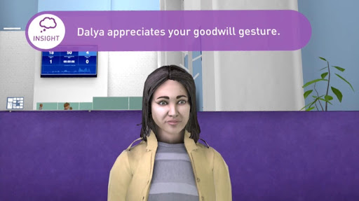 A snippet from VR training for Lloyds bank