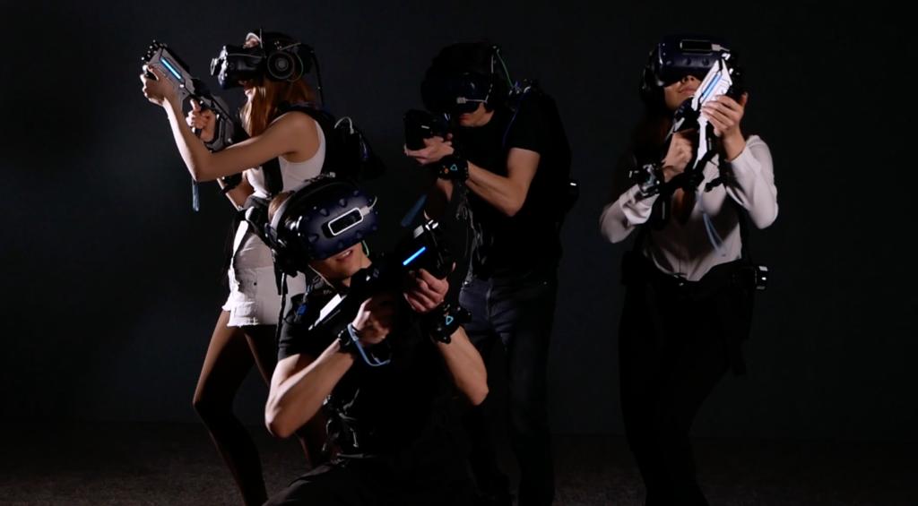 People wearing Free-Roam VR gear