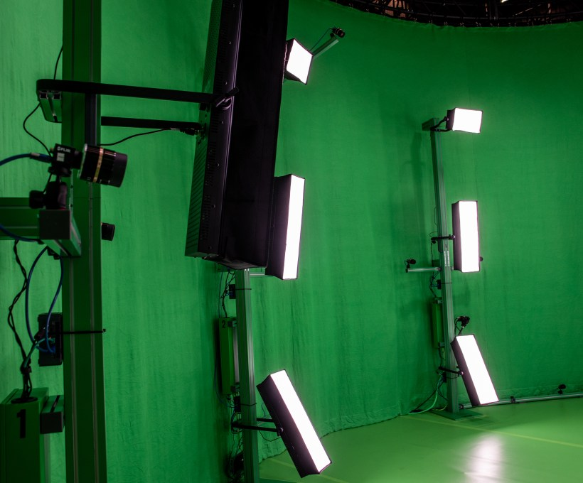 Inside of Chronosphere - volumetric video capturing studio