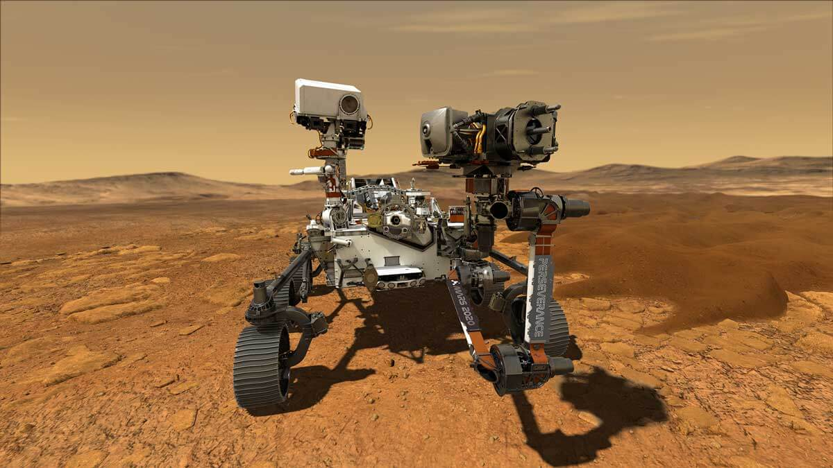 Perseverance Rover rendered - Walk on Mars