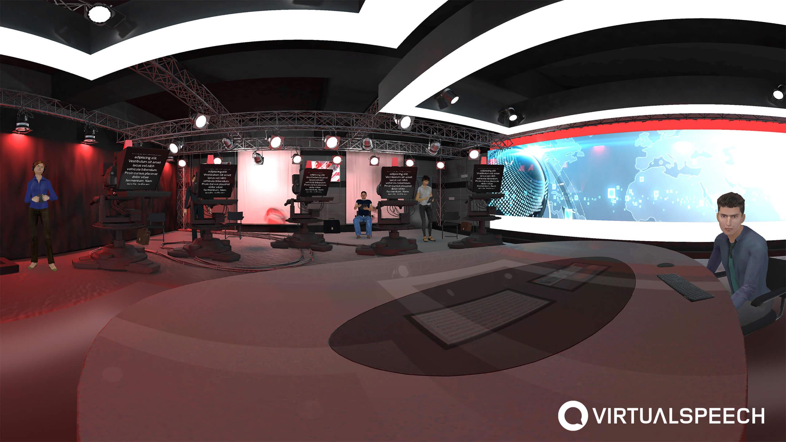 VR Media training - BBC setting