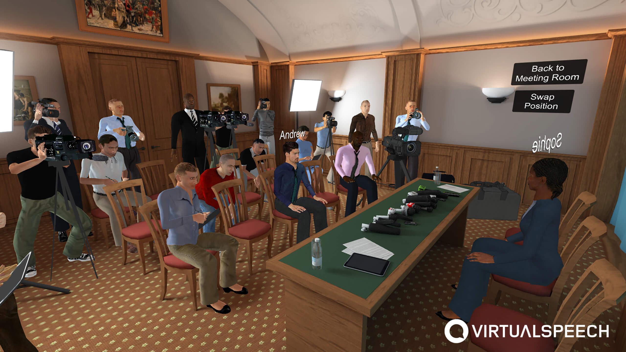 VR Media Training - Hostile interview setting