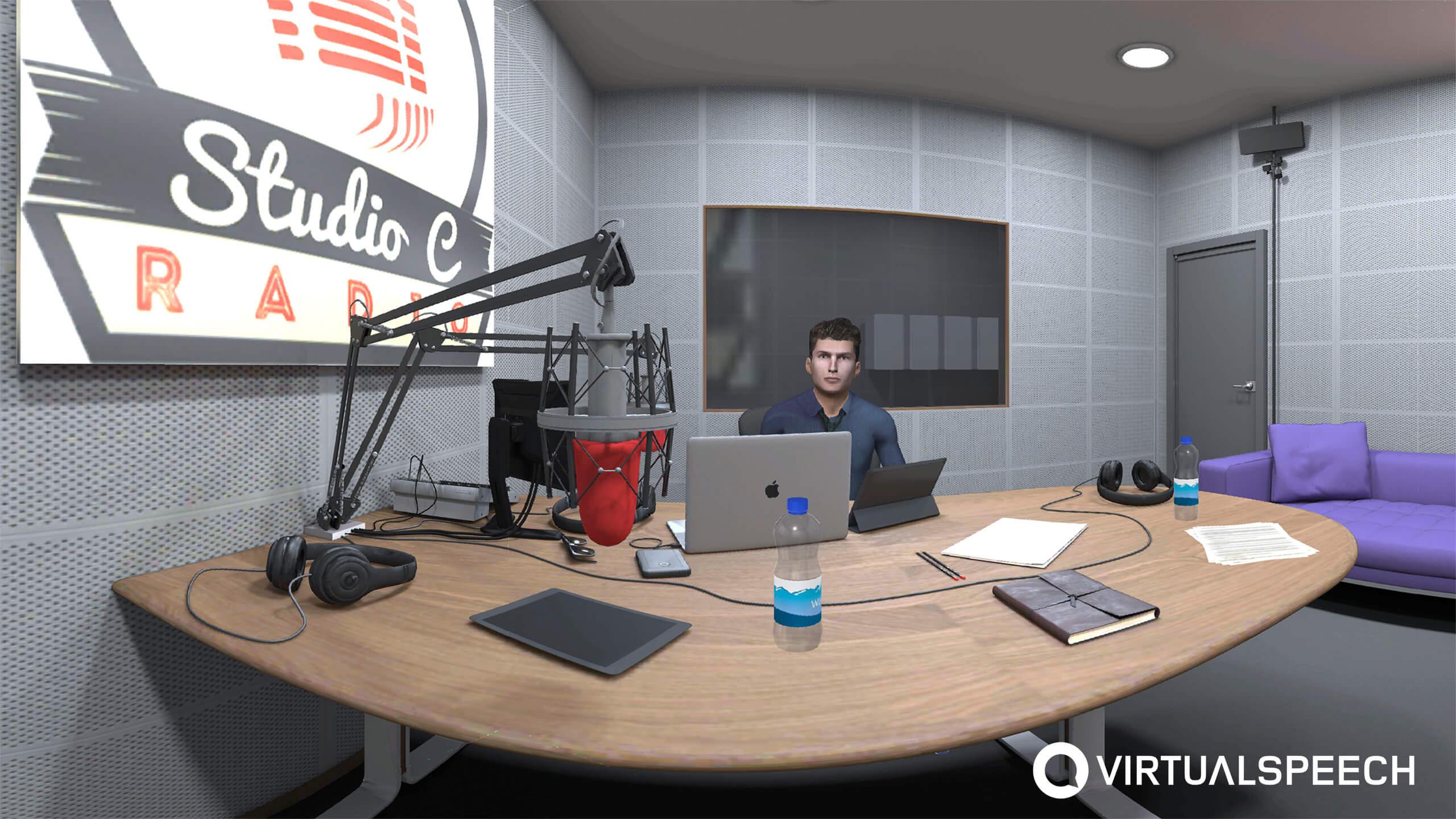 VR Media training - radio station setting