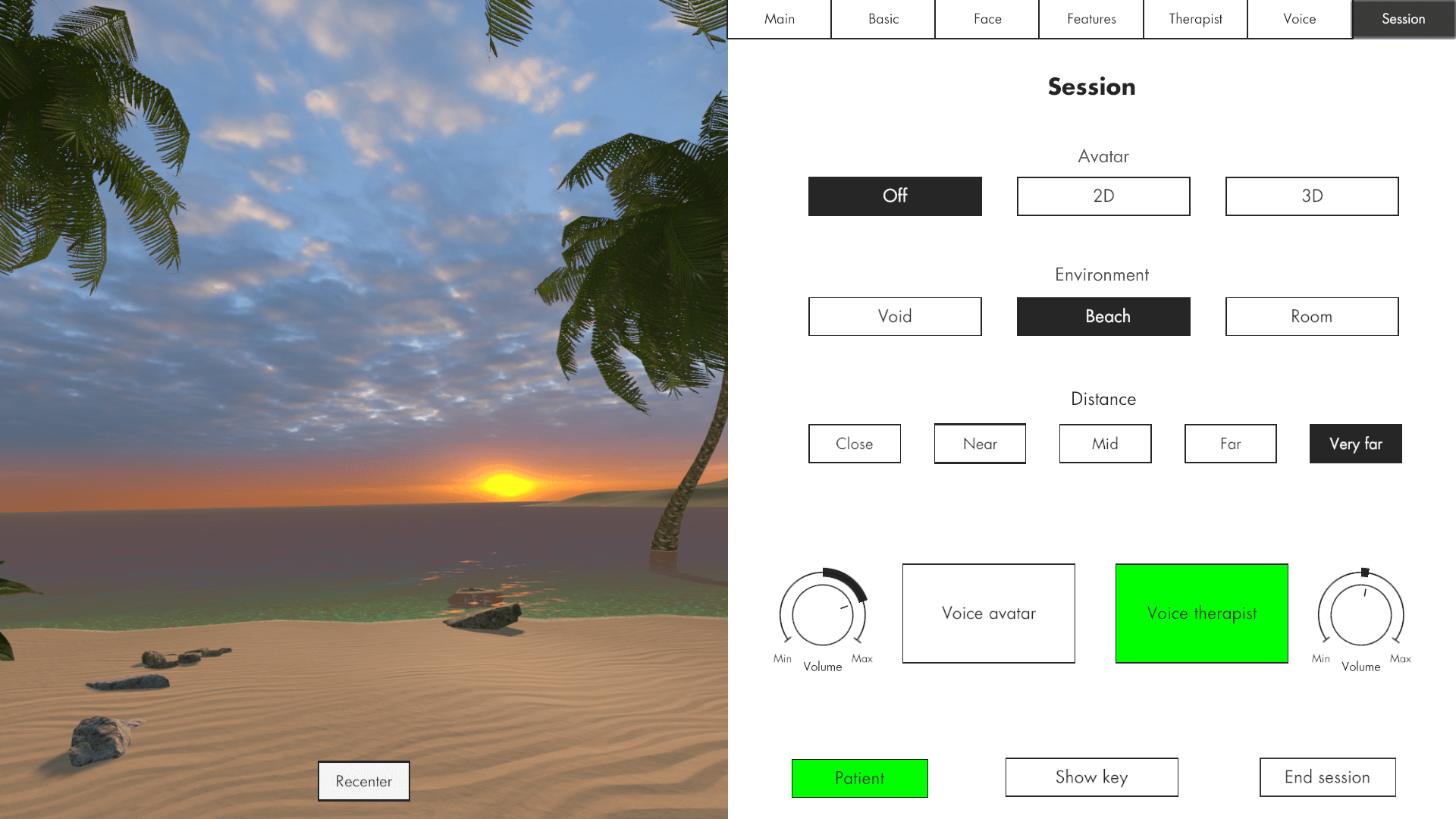 The Challenge Project virtual reality treatment - calm beach image