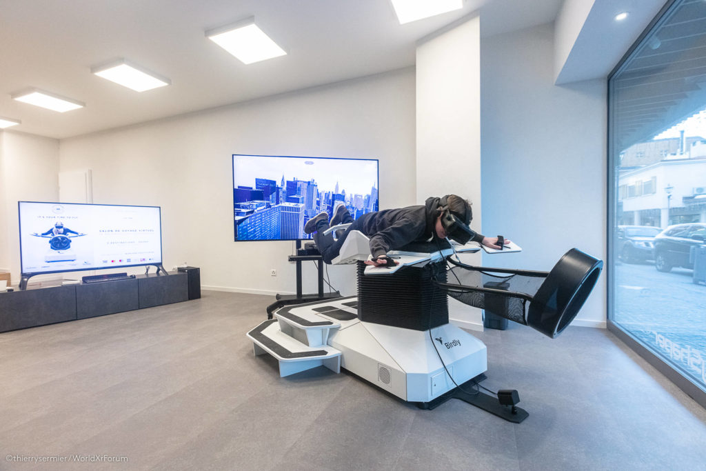 A virtual travel lounge from inside