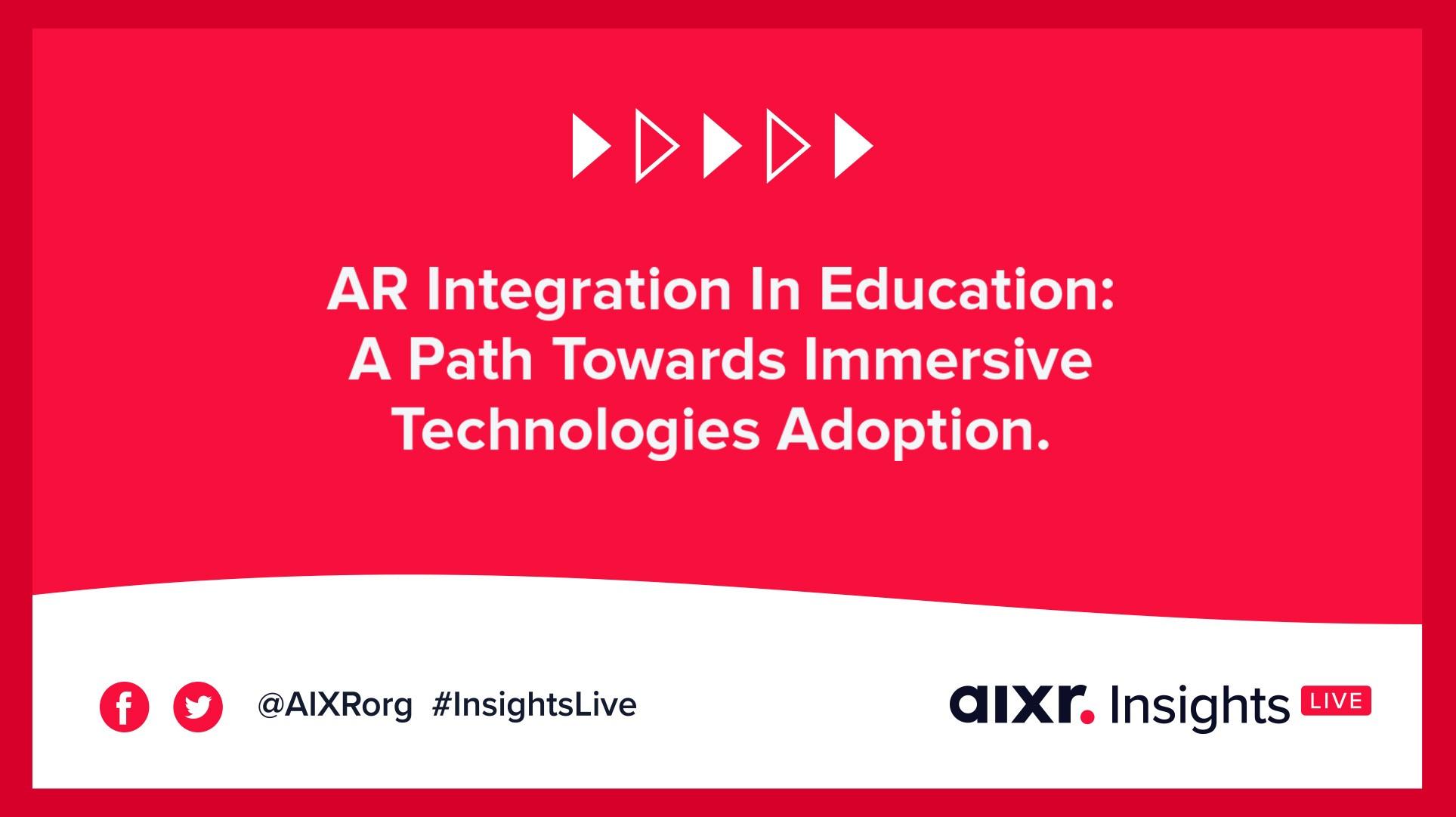 AR Integration in Education webinar banner