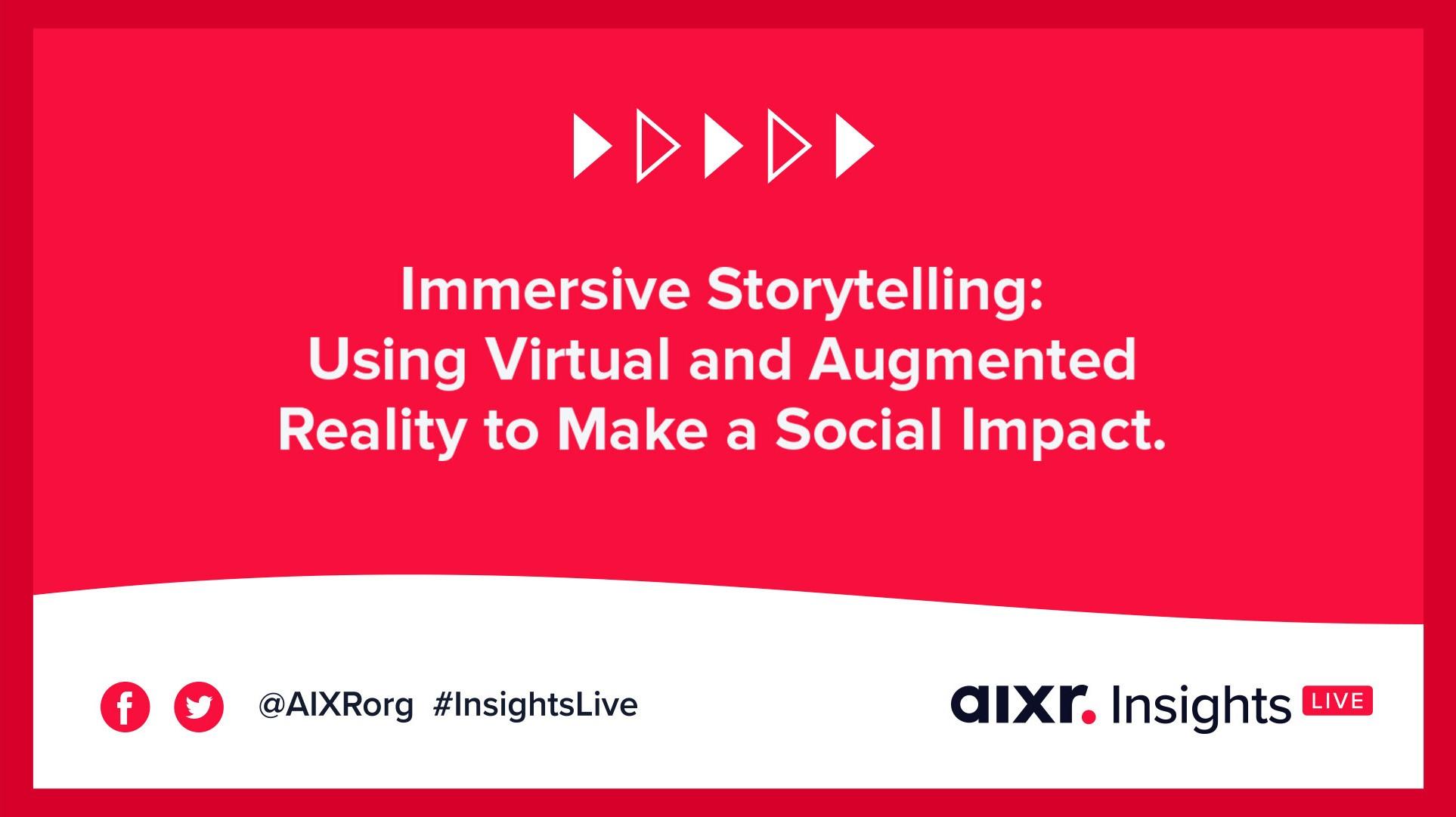 Immersive storytelling webinar bannner
