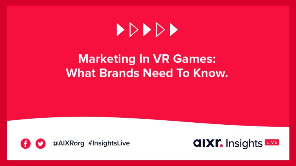 Marketing in vr games webinar banner