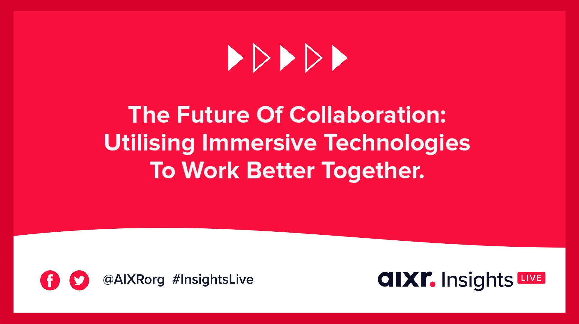 A banner for a webinar about how immersive technologies can help people work better together