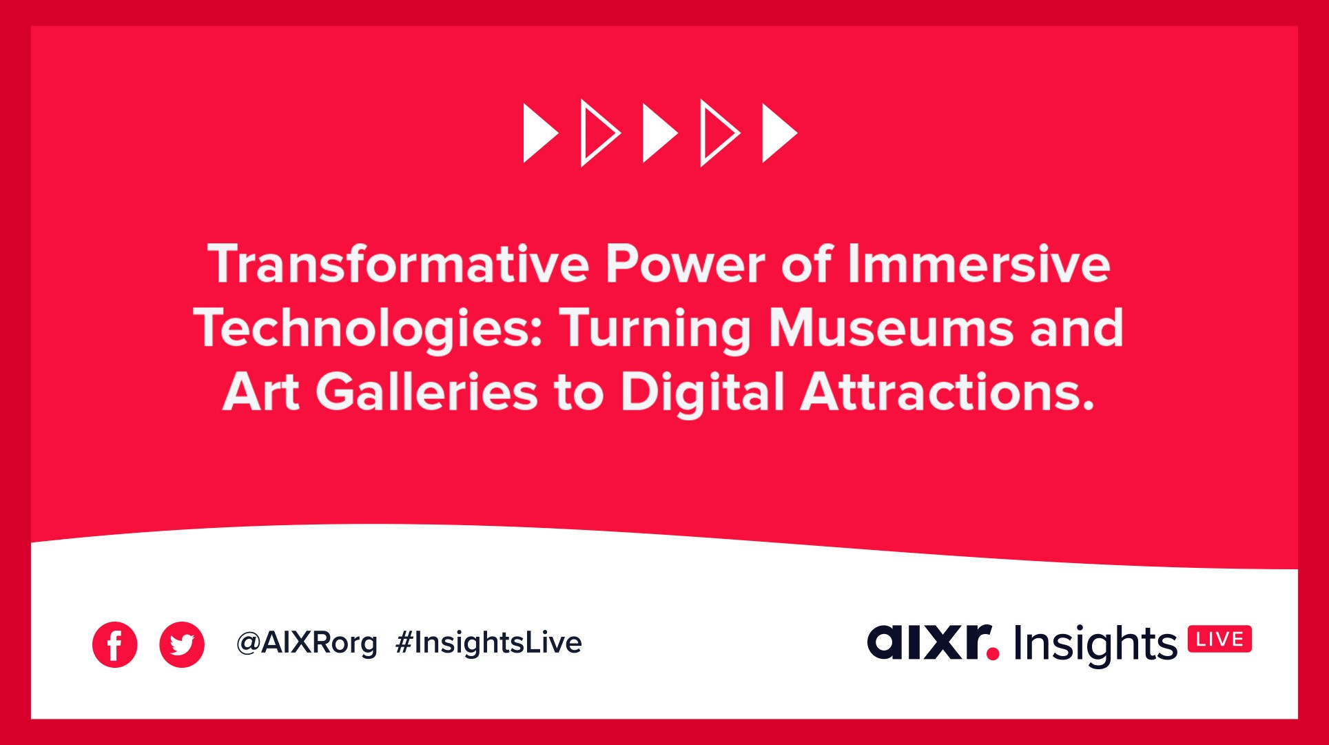 A banner for a webinar on how immersive technologies are transforming museum and art industry